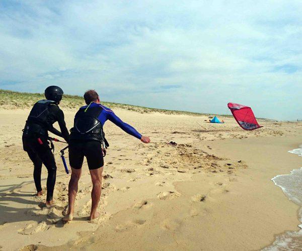 despegue-clase-privada-kiteland-escuela-kitesurf-landes