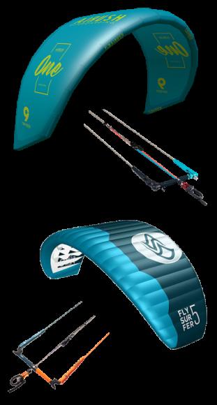 gear kites and bars