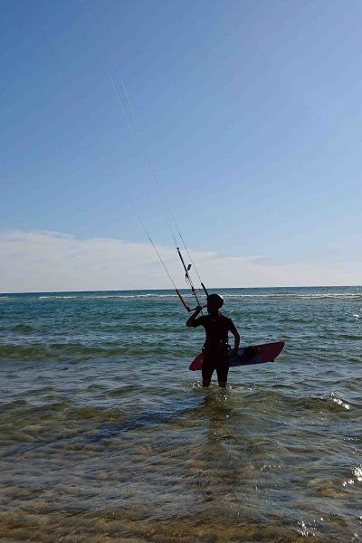 cours kitesurf avant le waterstart